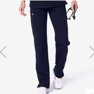 FIGS Kade Cargo Pants Yoga Band Size XS Tall Navy